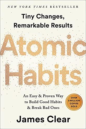 """Book cover of """"Atomic Habits"""" by James Clear"""