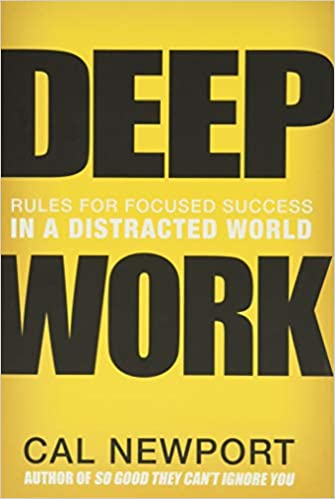 """Book cover of """"Deep Work"""" by Cal Newport"""