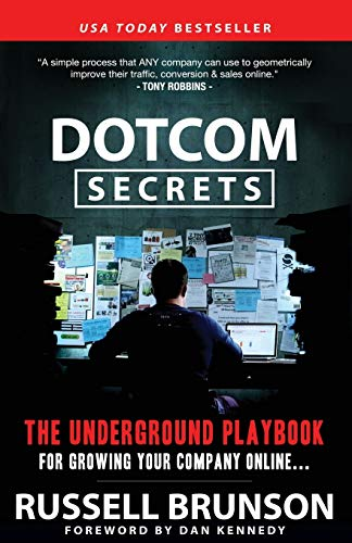 """Book cover of """"Dotcom Secrets"""" by Russell Brunson"""