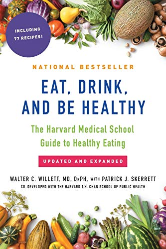 """Book cover of """"Eat, Drink and be Healthy"""" by Walter Willett and Patrick Skerrett"""