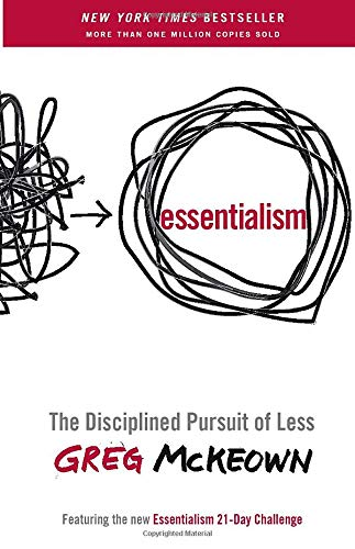 """Book cover of """"Essentialism"""" by Greg McKeown"""