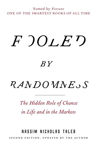 """Book cover of """"Fooled by Randomness"""" by Nassim Taleb"""