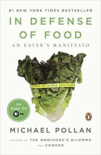 """Book cover of """"In Defense of Food"""" by Michael Pollan"""