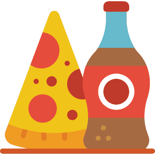 Icon of pizza and cola