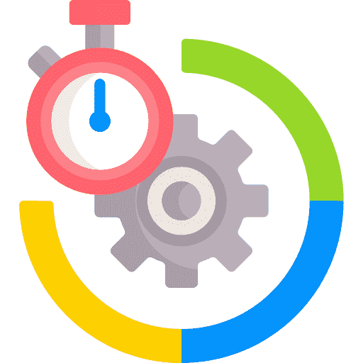 Icon depicting productivity and efficiency
